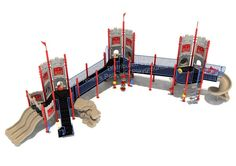 Noahs Park and Playgrounds - Dunluce Castle Structure, Adventure and fun all in one - The Dunluce Castle is a great way to encourage imaginative play and social interaction to your children ages 2-12. It's ADA Ramp and ground level panels make this structure ADA Compliant! (http://www.noahsplay.com/ada-equipment/ada-structures/dunluce-castle-structure/)
