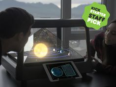 Holus: The Interactive Tabletop Holographic Display - if this thing actually works, it could be pretty sweet. Really expensive, but sweet.