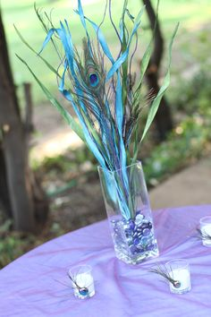 #Purple #turquoise #peacock #wedding #TABLE #DECOR ... Best #Wedding #App ... The how, when, where & why of wedding planning for brides, grooms, parents & planners ... https://itunes.apple.com/us/app/the-gold-wedding-planner/id498112599?ls=1=8 … plus lots of budget wedding ideas ♥ The Gold Wedding Planner iPhone App ♥ http://pinterest.com/groomsandbrides/boards/