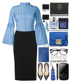 """Mondays...."" by palmtreesandpompoms ❤ liked on Polyvore featuring Roland Mouret, Daizy Shely, Furla, NARS Cosmetics, Sloane Stationery, Alexander McQueen, H&M, Cartier and Porsche Design"