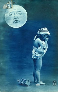 mooning the moon