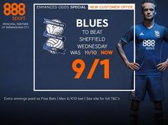 Blues v Sheffield Wednesday: betting preview with 888sport