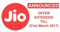 On Thursday, Mukesh Ambani has announced that the Jio happy new year offer will be extended until march 2017. He also added that his customers will not be charged until they experience 4G speed and service. Latest News: Reliance Jio Rs.100 Offer Extends Until June 2017 Most of Jio's new...