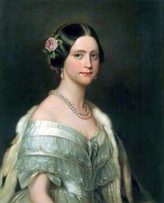 A princesa Maria Amélia por volta de 1849 (artista: Friedrich Dürck).