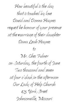 Bridal Association Of America Is Specializing In Providing Wedding  Invitation Verses , Wedding Music, Wedding