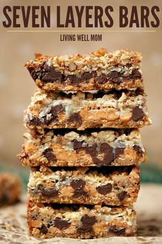Seven Layer Magic Cookie Bars - with chocolate, butterscotch, coconut, walnuts, graham, and more, this mouthwatering cookie bar recipe is a crowd favorite. Plus it's quick and easy to make!