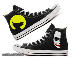 Batman & Joker Custom Converse / Painted Shoes