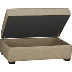 Davis Storage Ottoman in Ottomans, Cubes | Crate and Barrel