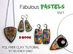 Polymer clay tutorial E-book PDF tutorial by ArtStudioKatherine