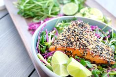 This simple Sesame Salmon Bowl is such an easy meal to prepare and is so fresh and light. This salmon…
