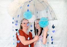 DIY: Wedding 'Shower' Photo Booth // Caught On A Whim Blog