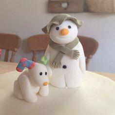 Snowman and Snowdog close up, by @gabibakes #snowman #snowdog #cake | Ctrl-F5