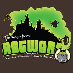 GREETINGS FROM HOGWARTS T-Shirt $11 Harry Potter tee at Unamee today only!