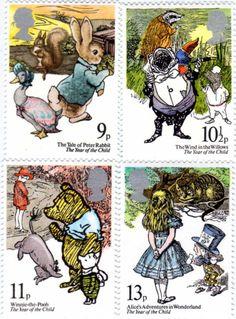イギリス童話切手