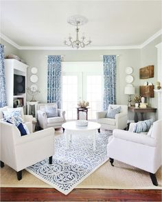 Currently daydreaming of this layered living room look from Who else wishes they were spending the afternoon relaxing here? - April 20 2019 at Coastal Living Rooms, Formal Living Rooms, Living Room Interior, Home Living Room, Living Room Decor, Living Room With Chairs, Living Room Color Schemes, Living Room Designs, Home Decor Instagram