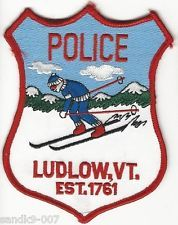 Neat Skier patch Ludlow Police State of VERMONT VT Shoulder Patch