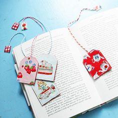 DIY textile Tea Time Bookmarks inspiration ^^ | Cottage Industry Shop