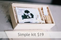 Premium sustainable customizable photography usb and print packaging