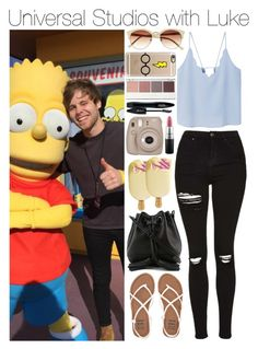 """""""Universal Studios with Luke"""" by xhoneymoonavenuex ❤ liked on Polyvore featuring Rebecca Minkoff, Topshop, MANGO, Billabong, Fujifilm, MAC Cosmetics, Lancôme, Witchery, Casetify and Vince Camuto"""