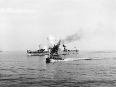 SEP 11 1943 USS Savannah hit by German glider bomb USS Savannah (CL-42) is hit by a German radio-controlled glider bomb,