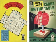"""Agatha Christie """"Cards on the Table"""" Dell Mapback #293; 1949 Christmas present 12/20/14"""