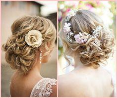 penteados com flores naturais flores naturais noiva