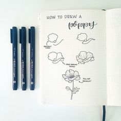Hi friends! It's @bonjournal_here one more time, and I'm so excited to share one of my flower tutorials on the @tombowusa account today! #tombow #bulletjournal