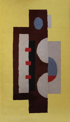 Fernand Leger:  Hand-woven Tapestry Signed, Jaune II