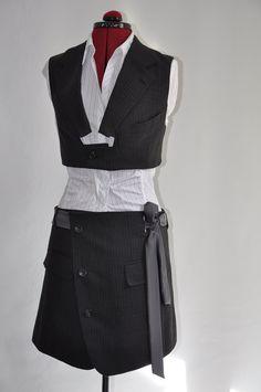 Woman Bolero and Skirt set - upcycled fashion - Jeviev. £100.00, via Etsy.