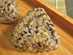 seaweed and brown rice onigiri