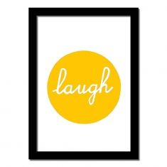 Laugh handmade art print (various colours)