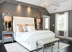 Lovely Gray and white Bedroom