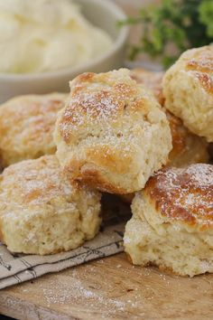 The easiest no-fail Lemonade Scones you ll ever make ready in just minutes Top them with jam cream or lemon curd fresh raspberries Australian Scones Recipe, Australian Food, Australian Recipes, Lemon Recipes, Sweet Recipes, Baking Recipes, Bread Recipes, Yummy Recipes, Cookie Recipes
