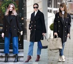 The Coat Plus Denim Looks | Blue is in Fashion this Year | Bloglovin'