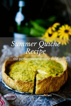This delicious Summer Quiche Recipe is tasty and healthy! Farmers Market Recipes, Sauteed Vegetables, Veggies, Quiche Recipes, Fruit In Season, Stuffed Sweet Peppers, Real Food Recipes, Delicious Recipes, Healthy Recipes