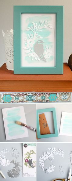 Make your own #DIY songbird frame to transform your #homedecor for the winter. In this step-by-step #Sizzix tutorial we'll show you can make it from scratch! #homedecorideas #diecutting #crafts #DIYcrafts #DIYhomedecor