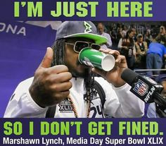 Love Marshawn Lynch!! #GoHawks #Back2Back #SuperBowlRePete