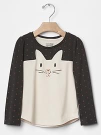 Contrast bunny tee - would be a cute DIY for several animals