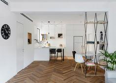 Maayan Zusman warms up Tel Aviv apartment with herringbone flooring | Dezeen