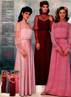 100 vintage prom dresses: See the hottest retro styles teen girls wore - Click Americana Vintage Prom, Vintage Mode, Vintage Hats, 90s Prom Dresses, 1980s Dresses, Vintage Outfits, Vintage Dresses, 80s Fashion, Vintage Fashion