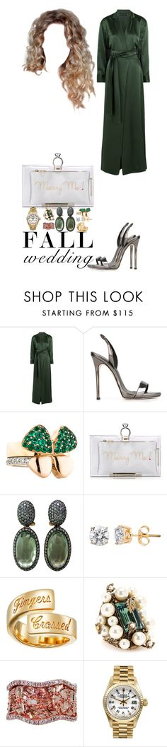 """Fall Wedding Guest!"" by ayooniesex3 ❤ liked on Polyvore featuring Michael Lo Sordo, Giuseppe Zanotti, Charlotte Olympia, Elizabeth and James, Gucci, L'Dezen, Rolex and fallwedding"