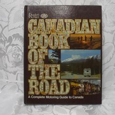 Vintage 1979 Reader's Digest Canadian Book Of The Road hardcover Readers Digest, Holiday Tables, Nonfiction, Christmas Holidays, Magazines, Red And White, Pure Products, Comics, Books