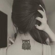 black-and-white #tattoo #owl @Rachel Buehrle and @Allison j.d.m Buehrle