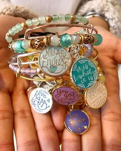ALEX AND ANI Words Are Powerful Collection Words are powerful, and so is jewelry with meaning. Everything happens for a reason, so pick the phrase that calls to you. Cute Jewelry, Jewelry Gifts, Jewelry Accessories, Fashion Accessories, Handmade Jewelry, Fashion Jewelry, Jewelry Necklaces, Gold Jewelry, Artisan Jewelry