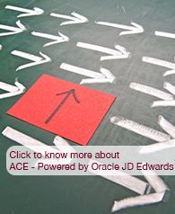 ACE- Powered by Oracle JD Edwards is a low cost , quick deploy ERP solution for SME Visit - www.cyret.com/products/ace