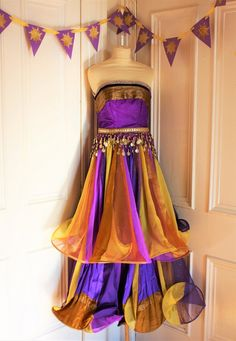 e8c1e4c24ac Arabian Princess Tangled dress ball gown dance costume bespoke belly-dance Fairy  tale fantasy goddess Rapunzel cosplay tangled size S M