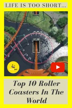 Top 10 Roller Coasters In The World Weird Gif, Weird Facts, Top 10 Roller Coasters, Life Is Short, Learning, World, Youtube, Strange Facts, Crazy Facts