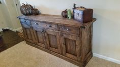 Planked Wood Sideboard - 2nd Ana White Project | Do It Yourself Home Projects from Ana White