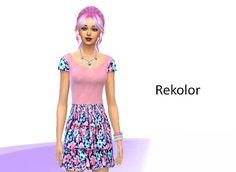 Sims 4- rekolory: Sukienka