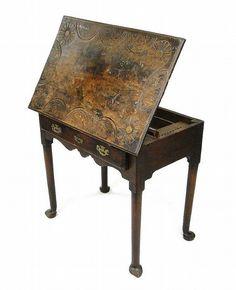 19th Century mahogany architect's table